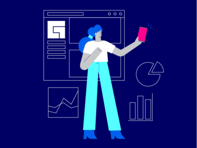 Illustration for Facebook Gaming branding illustration design