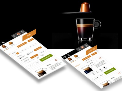 Concept: Nespresso Irish Website responsive web website design ux ui