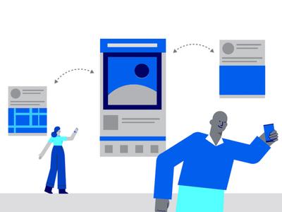 One more illustration for Facebook Gaming vector design branding illustration