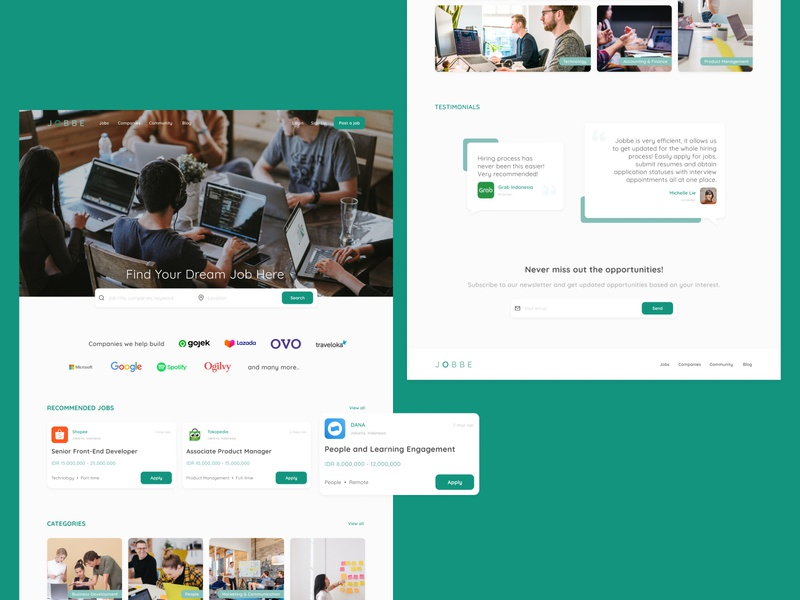 JOBBE - Job Portal job portal job board web design ui ux design ux design ui design