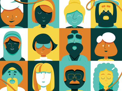 Great King progress VI wip mustache glasses humans diversity world people vector illustration childrens book kids king great