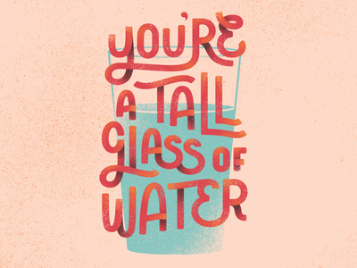 LTLOL Holiday Card: Valentine's cards greeting holidays wip custom hand drawn typogaphy type clean water water texture let them lol nonprofit typography illustration