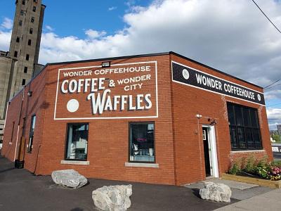 Wonder Coffeehouse Branding/Signage identity type cafe restaurant coffee signage logo branding