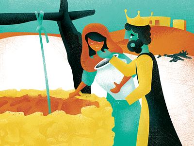 Great King XVII b story kids well king children childrens book design texture illustration