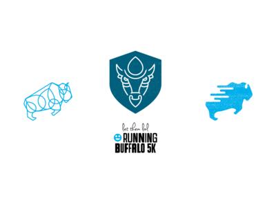 Running Buffalo 5k Logo Concepts