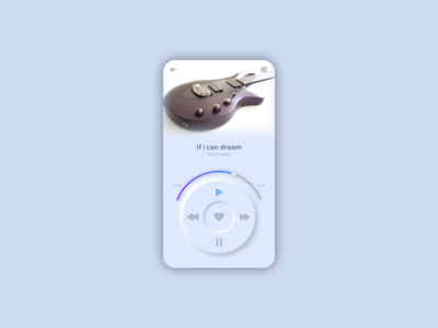 Neumorphism Music Player