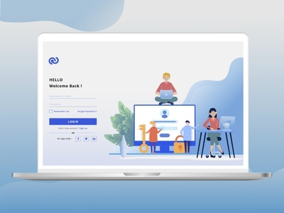 Web Login Page Design