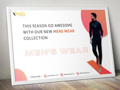 Men's Fashion Poster Design