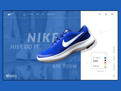 Nike Shoe Landing Page | Web Design | E commerce | Shop