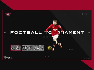 Football Tournament Landing Page | Web Design | Sports