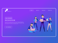 Graphics And Web Designer Template | Landing Page