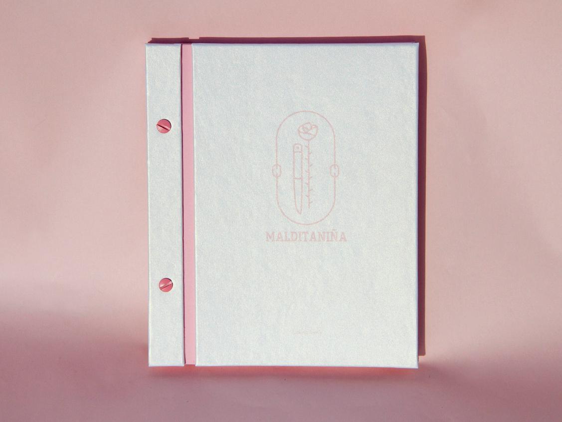 Maldita Niña editorial design manual editoral branding logo typography tumblr design aesthetics