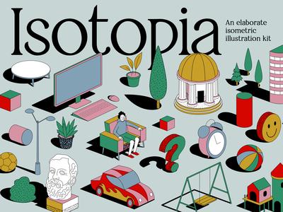Isotopia - An elaborate isometric illustration kit