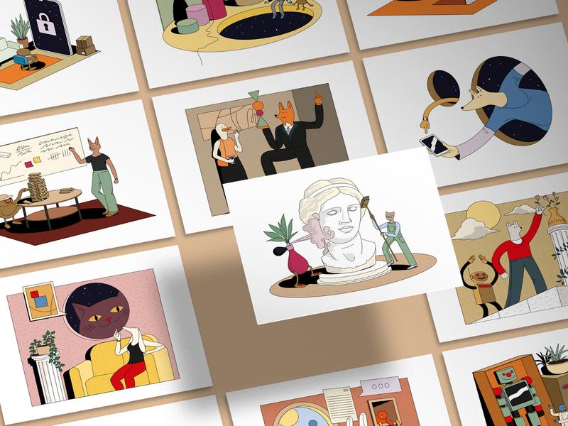 Dreamwork Illustration Set web style store resources print illustrator illustrations illustration growth graphics editorial editable assets art