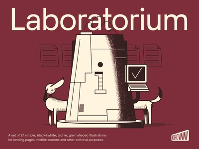 Laboratorium Illustration Set