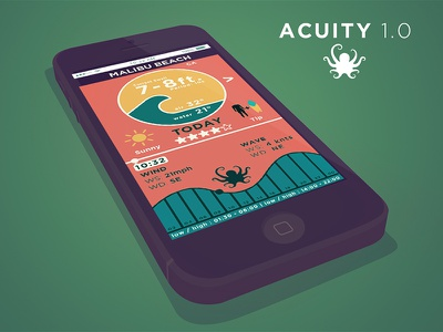 Acuity 1.0 subscope iphone app app weather app surfer sunny green octopus weather forecast