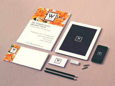 Walpole Branding Identity branding business cards iphone ipad