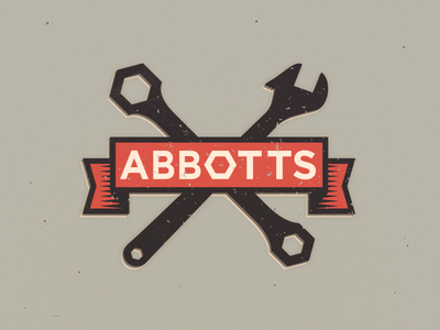 Abbots Logo subscope vintage logo vintage car logo car workshop spanner tools auto car logo