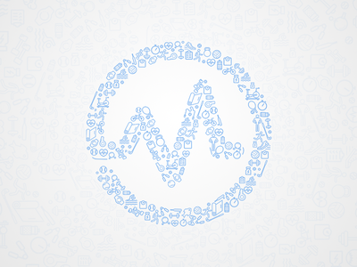 Mobiefit Logo  icon pattern pattern blue icons logo statistic stats cardio sport fitness