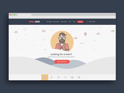 Loan Singh Website doodle hills scrolling parallax character illustration illustration flat design webdesign web design