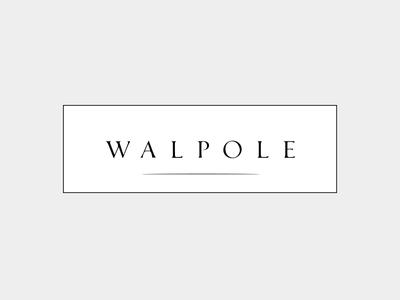 Walpole Logo serif logo serif serif font branding british luxury logo design walpole