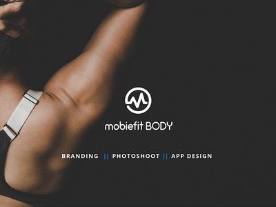 Mobiefit Branding exercise logo fit photography lightroom behance app fitness