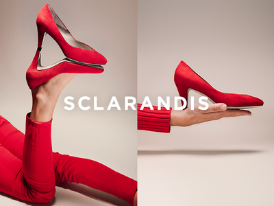 Sclarandis Art Direction fashion photography logo design creative direction art direction red shoes e-commerce shoes photography fashion branding