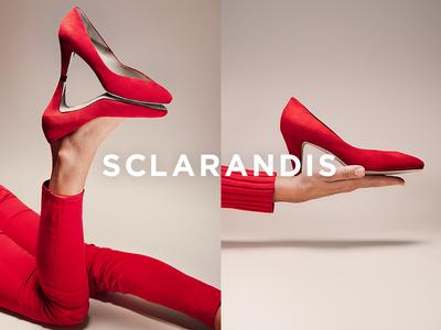 Sclarandis Art Direction fashion photography logo design creative direction art direction red shoes e-commerce shoes photography fashion branding