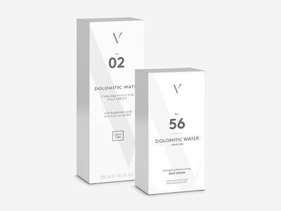 Dolomitic Water Product Design online shop package design product design cream box shopify brand cosmetics packaging logo branding
