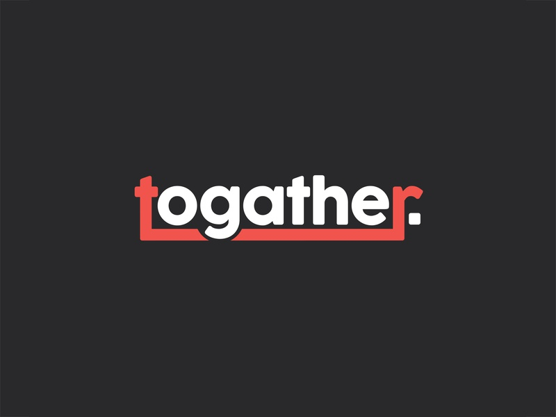 Togather Logo joined letters joint logo minimal logo simple logo icon typography vector ui design branding logo