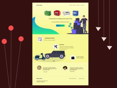 Battery Shop Website Design