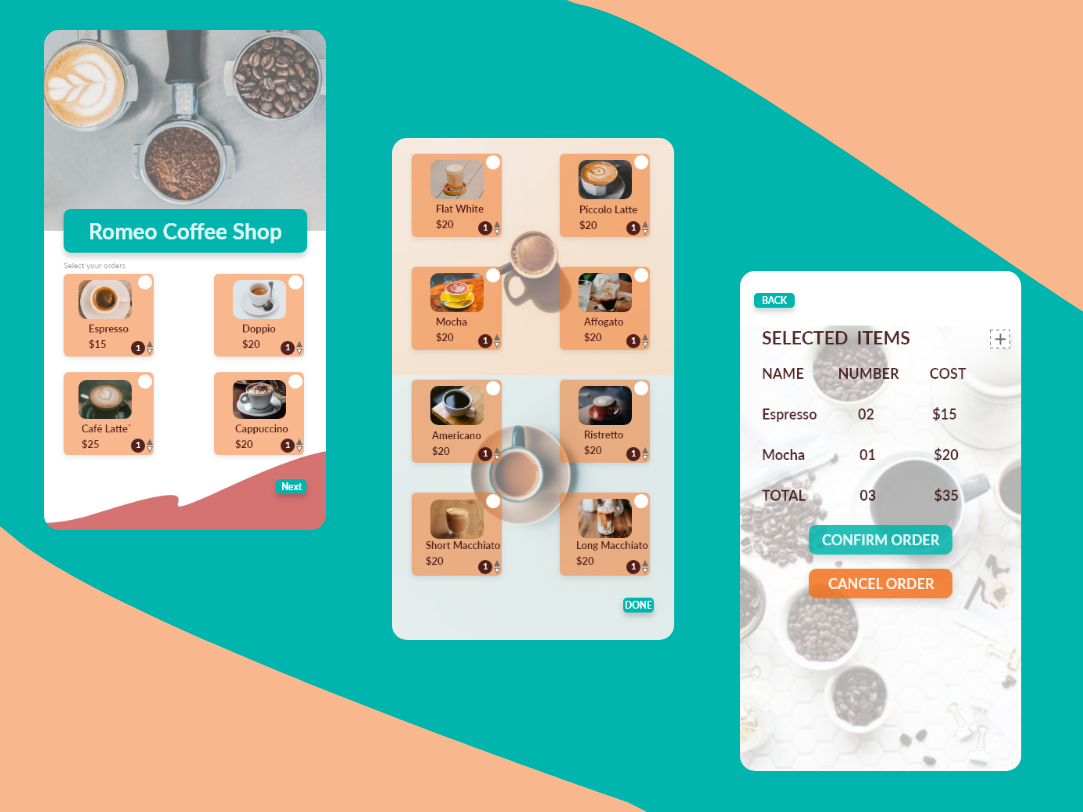 Coffee Shop App Design coffeeshop appdesign branding app design ux ui