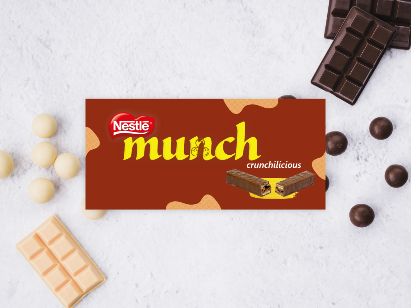 Chocolate Wrapper Redesign Munch By Jenitta Johny On Dribbble
