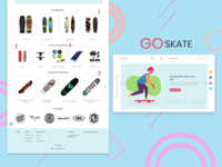 SKATEBOARD SHOP WEB DESIGN