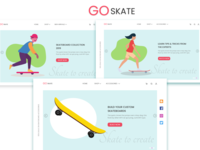 Skateboard web design