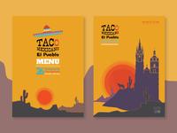 Mexican restaurant menu list cover