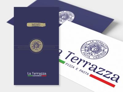 Restaurant menu list cover, logo and visit card design