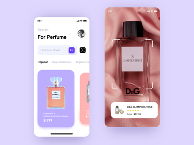 Perfume Store App app ios app icon mobile ui application ui application design ui