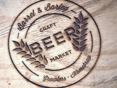 Growler Shop Branding typography logo branding