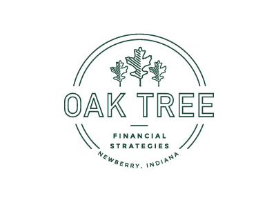 Oak Tree typography logo branding