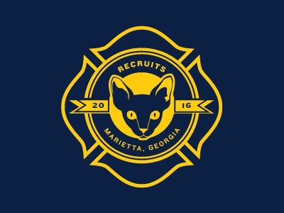 Marietta Fire Department 2016 Recruit Logo cat georgia marietta branding logo