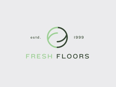 Fresh Floors logo branding business