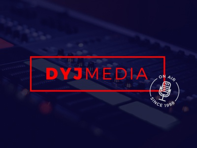 DYJ Media business branding logo