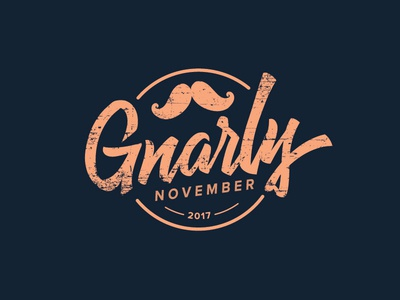 Gnarly November Logo branding event logo