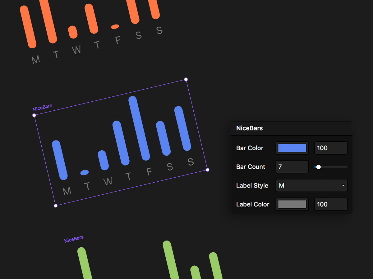 Nice Bars ui framerx graph prototyping