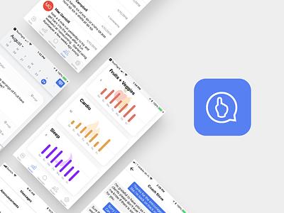 Nudge V4 Icon & Screens icon tracker fitness app