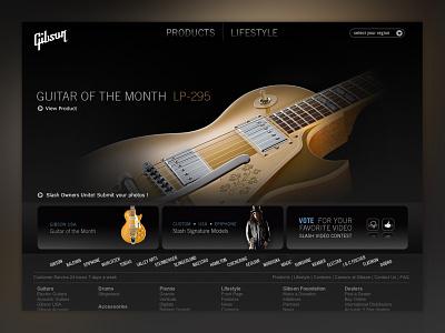 Gibson.com homepage gibson design art direction