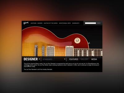 Gibson USA Product Navigation