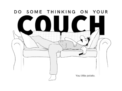 The COUCH. comic strip cartoon sketch illustrator illustrations comic design art graphic art inking ink digital art illustration