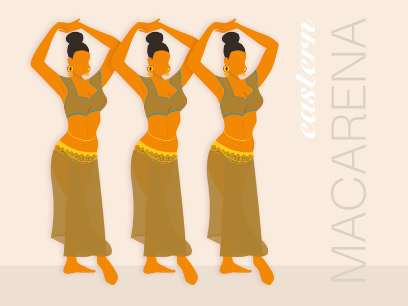 Macarena illustrator digital painting illustration art graphic art vector flat design digital art design illustration
